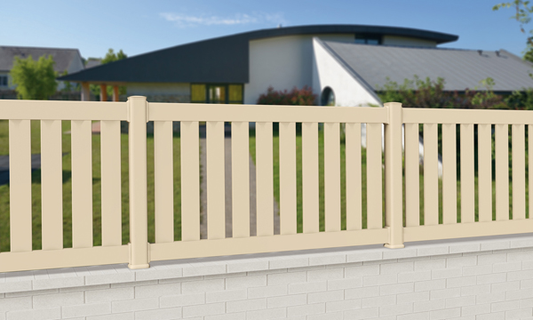 cloture balustrade pvc ivoire