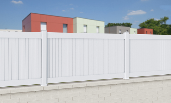 cloture balustrade pvc remplissage plein