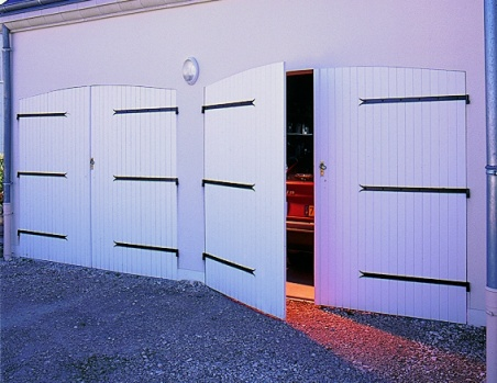 porte garage pvc cintree